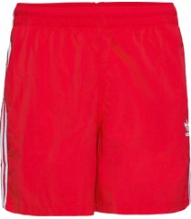 adicolor classics 3-stripes swim shorts badshorts röd adidas originals