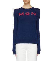 logo intarsia cashmere sweater