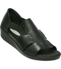 sandalia plataf  negro romulo 5078