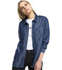 camisa denim lenka azul five