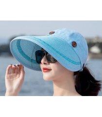 sombrero de sol de verano femenino al aire libre-azul