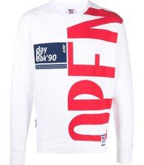 autry cotton sweatshirt with maxi logo print