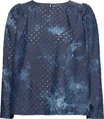 lullaby blouse lange mouwen blauw munthe