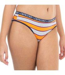 calcinha boneca listras laranja capricho college - 520.023 capricho lingerie boneca multicolorido