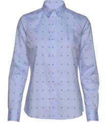 d1. fil coupe flower shirt overhemd met lange mouwen blauw gant