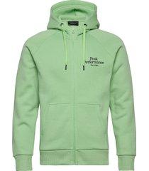 m original zip hood hoodie trui groen peak performance