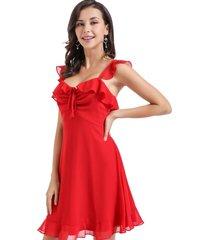 vestido gasa vuelitos rojo nicopoly