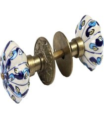 maã§aneta- pashmina- puxador porta ceramica- azul - azul - dafiti