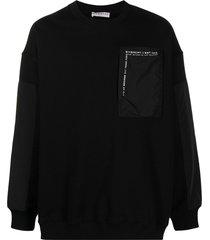 givenchy logo patch pocket sweatshirt - black