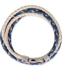 dolce & gabbana braided wraparound bracelet - white