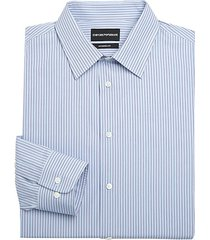 modern-fit cotton striped dress shirt