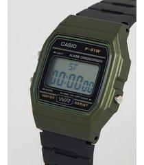 gran promoción reloj casio modelo f 91wm-3a  original unisex verde