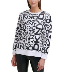 dkny logo-print sweatshirt