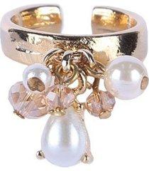 anel armazem rr bijoux pingentes cristais e pérolas - kanui