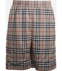 burberry technical twill shorts with vintage check tartan motif