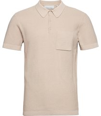 klaus knit tee polos short-sleeved beige casual friday