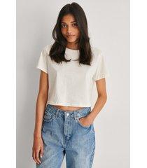 trendyol croppad t-shirt - white