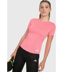 camiseta rosa adidas performance perf tee