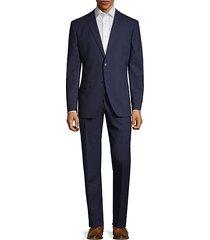 classic slim-fit wool suit