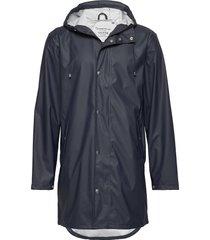 long rain jacket /vegan regenkleding blauw knowledge cotton apparel