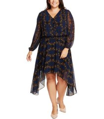1.state trendy plus size smocked-waist dress