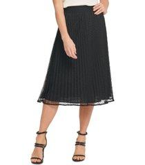 dkny pleated mesh skirt
