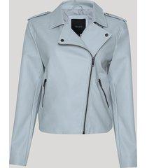 jaqueta biker feminina com bolsos off white