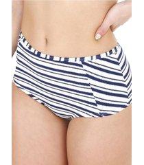 bikini calzón alto rayas blanco h2o wear