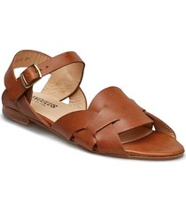 sandals - flat shoes summer shoes flat sandals brun angulus