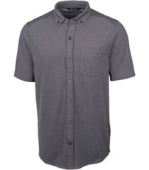 cutter & buck men's reach oxford button front short sleeve shirt