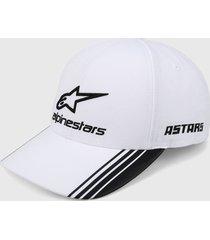 gorra blanco-negro alpinestars