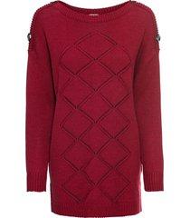 maglione con bottoni (rosso) - bodyflirt boutique