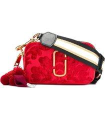 marc jacobs bolsa transversal 'snapshot' de couro - vermelho