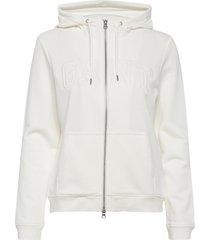 arch logo zip hoodie hoodie trui wit gant