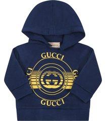 gucci blue sweatshirt for babykids with logos
