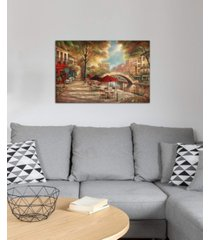 "icanvas ""riverwalk charm"" by ruane manning gallery-wrapped canvas print"