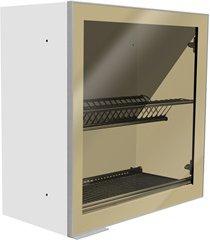 armário aéreo fit lado direito com escorredor e porta de vidro 60cm branco
