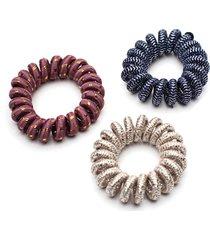 bandas elasticas con brillo color surtido, talla uni