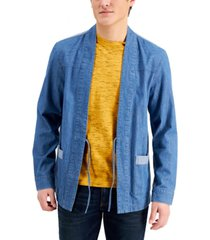 sun + stone men's dean open-front jacket, created for macy's