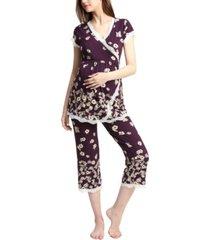 kimi & kai addison maternity nursing pajama set