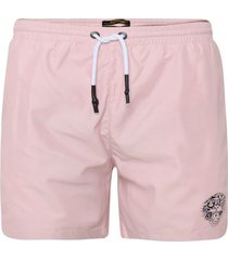 zwembroek ed hardy - roar-head swim short dusty pink