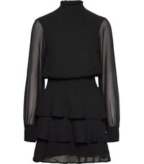 alexa turtleneck dress knälång klänning svart gina tricot