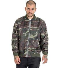 jaqueta  offert bomber camuflada masculina slim fit verde militar - kanui