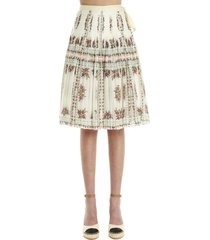 tory burch wrap skirt