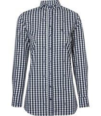 camisa dudalina manga longa jacquard fio tinto zebra feminina (estampado, 46)