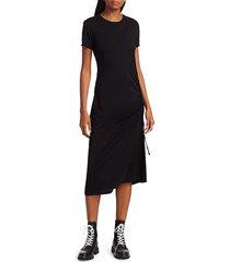rag & bone women's ina ruched dress - black - size xs