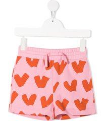 hearts shorts in pink jersey