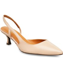 pumps 4572 shoes heels pumps sling backs beige billi bi