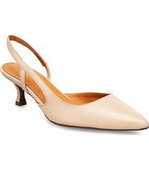 pumps 4572 shoes heels pumps sling backs beige billi bi