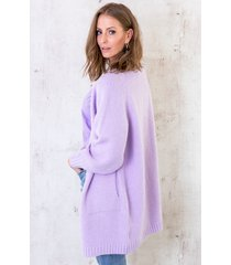 oversized vest gebreid lila